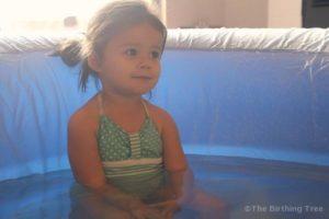 Sofia in the birth pool