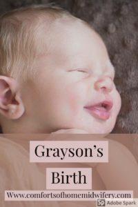 Grayson's Birth