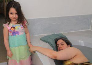 Big Sister Helping at the Birth