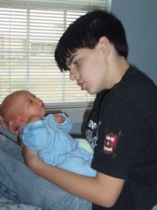 Eman holding Parker
