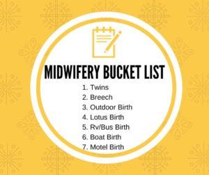 Midwifery Bucket List